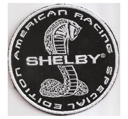 Shelby American Racing Special Edition Logo Sitzbezug Teppich Aufnäher Patch