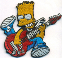 Bart Simpson Rocker Band Rockabilly Heavy Metal Biker Aufnäher Patch Aufbügler