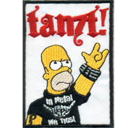 Simpsons Homer Simpson TANZT in Heavy Metal we trust Rockabilly Biker Aufnäher Patch