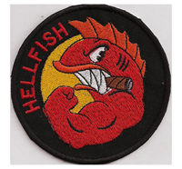 Simpsons The Curse Of The Flying HELLFISH WW2 Comic Patch Aufnäher