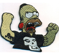 Homer Simpson Rocker Heavy Metal Biker Rockabilly Misfits Punk Anarchy Aufnäher Patch