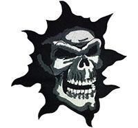 Zerrissener Totenkopf Reaper Tattoo Evil Biker Death Metal Backpatch Aufnäher