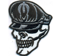 Skull Captain Piraten Kapitän Deathhead Dictator Totenkopf Biker Aufnäher Patch