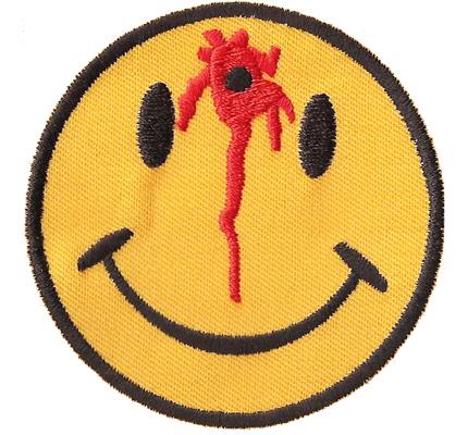 Smiley Sniper Kopfschuss Killer  Emoticon biker Rocker Heavy Metal Punk Patch