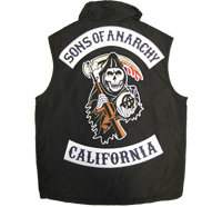 SONS of ANARCHY 3er SET XXL CENTER+Top+BOTTOM CALIFORNIA Aufnäher Patch