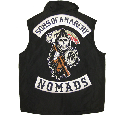SONS of ANARCHY 3er SET XXL CENTER+Top+BOTTOM NOMADS Aufnäher Patch