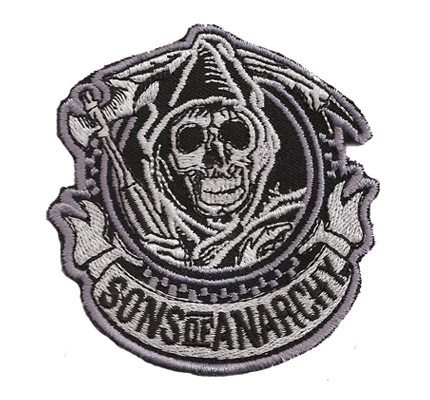 Sons of Anarchy Frontpatch 1 Man of Mayhem SAMCRO Patch Aufnäher