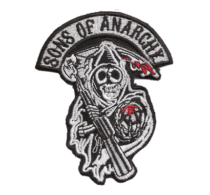 Sons of Anarchy Biker Centerpatch 2 Redwood SOA SAMCRO Patch Aufnäher