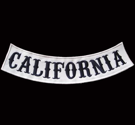 Sons of Anarchy Skull BOTTOM Backpatch California redwood original Aufnäher XXL