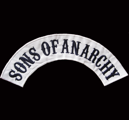 Sons of Anarchy Skull TOP Backpatch SAMCRO redwood original Aufnäher XXL