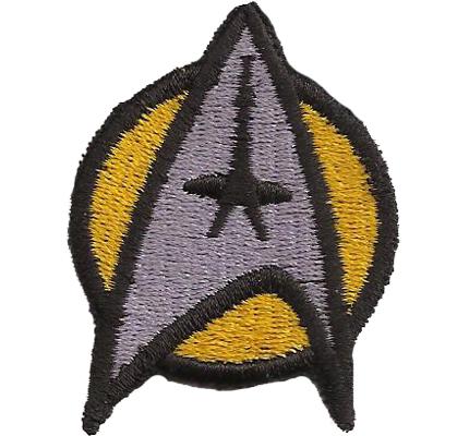 Star Trek Startrek Captain Uniform Kostüm Gelb Aufnäher Patch Abzeichen