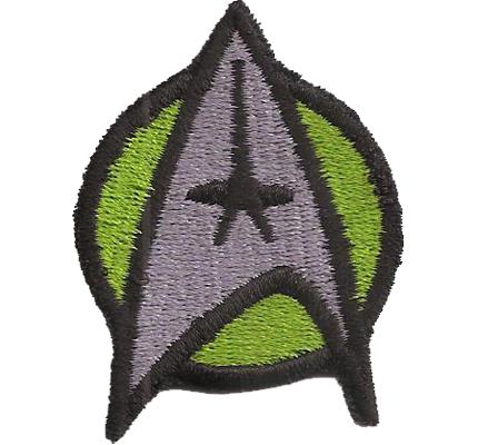 Star Trek Startrek Captain Uniform Kostüm Grün Aufnäher Patch Abzeichen