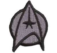 Star Trek Startrek Captain Uniform Kostüm GrauAufnäher Patch Abzeichen