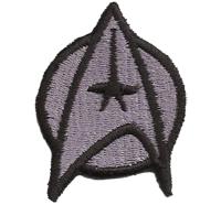Star Trek Startrek Captain Uniform Kostüm GrauAufnäher Patch Abzeichen