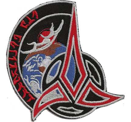 StarTrek Star Trek Klingonen Clingone Empire Aufnäher Patch Abzeichen
