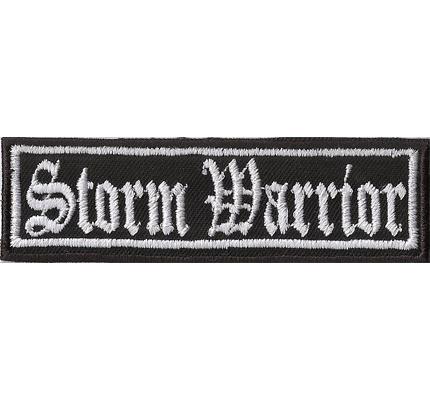 STORM WARRIOR Odins Thors Hammer Biker Rocker Heavy Metal Patch Aufnäher Badge
