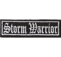 STORM WARRIOR Odins Thors Hammer Biker Rocker Heavy Metal Patch Aufnäher Badge