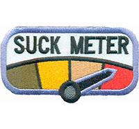 Suckmeter You Suck Heavy Metal Biker Rockabilly Patch Aufnäher Abzeichen