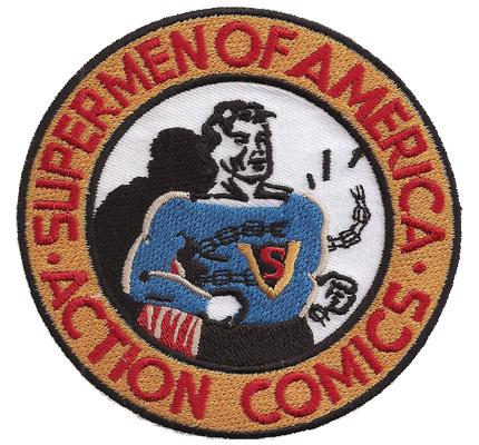 Super Man Supermen of America Action Comic Marvel Patch Aufnäher Abzeichen