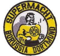 Supermacht BVB Borussia Dortmund, Südkurve Ultras Fanclub Trikot Aufnäher
