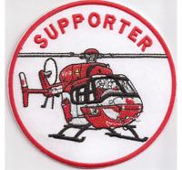 SUPPORTER Rettungshubschrauber RTH ITH DRF Helicopter Luftrettung Abzeichen Aufnäher