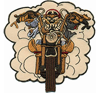 TAZ Badass Comic Rockabilly Punk Anarchy Biker Motorcycle Patch Aufnäher