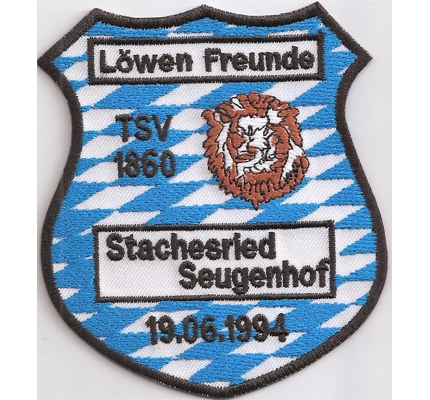 TSV 1860 Löwen Freunde Stachesried Seugenhof Patch Trikot Aufnäher Abzeichen