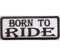 Tab Born to Ride Biker MC Motorrad Rankpatch Center Patch Aufnäher Abzeichen