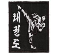 Taekwondo Taek won Do kämpfer wtf dtu Dan Classic Abzeichen Aufnäher