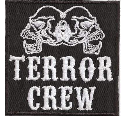 Hells Terror Crew Biker Skull Angels Head MC Biker kutte Patch Aufnäher