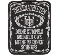 THEKENATHLETEN, Jack Daniels Fun Patch, Heavy Metal Biker Aufnäher