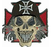 Totenkopf Ironcross Totenkopf Biker Rocker Heavy Metal Skull Patch Aufnäher