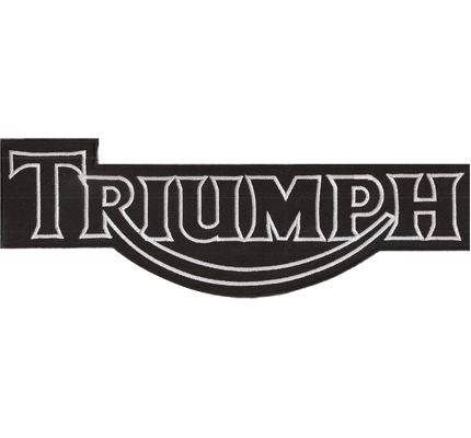 Triumph XXL BACKPATCH Motorrad Motorcycle Speedtriple Superbike Aufnäher