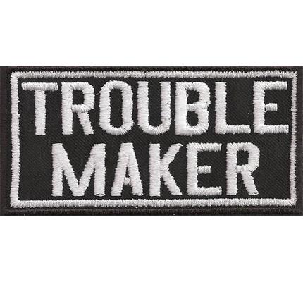 Trouble Maker Vintage Heavy Metal Biker Rocker Kutte Spruch Patch Aufnäher