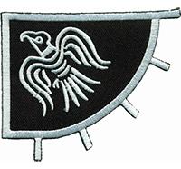Viking Bird Flag Wikinger Taube Flag TV Serie Kostüm Patch Aufnäher Abzeichen