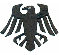Viking Wikinger Nordmann Fahne Krähe Adler Crow Kostüm Patch Aufnäher