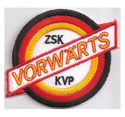 KVP Sportvereinigung Vorwärts 1954 NVA Fussball Aufnäher Patch Abzeichen