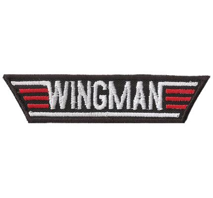 WINGMAN, Top Gun, Flirt Coach, Aufreisser, Halli Galli, Aufnäher, Patch, Abzeichen