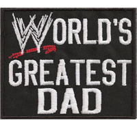 WORLDS Greatest Dad, WWE, WWF, Heavy Metal, Aufnäher, Patch, Abzeichen