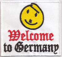 WELCOME to Germany, Anti Hitler, Smilie, Rocker, Skinhead, Aufnäher, Patch