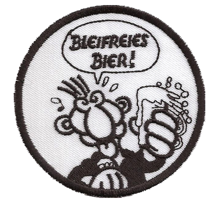 Werner Beinhart Bleifreies Bier Biker Lederjacke Kutte Weste Aufnäher Patch