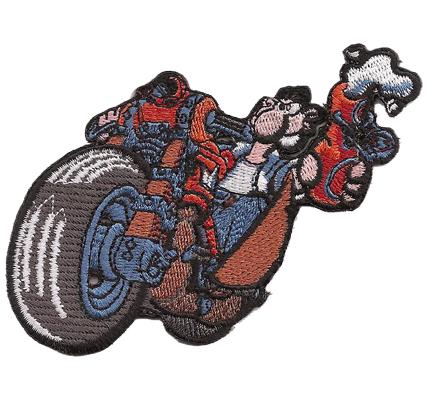 Werner Beinhart Rocker Biker Bier Beer Motorrad Aufnäher Patch Abzeichen