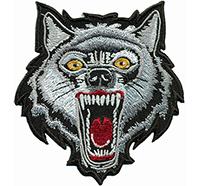 Bad Screaming Wolf Wikinger Viking Biker Heavy Metal Hund Patch Aufnäher