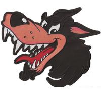 XXL Comic Wolf Wolfspakt Lonly Wulf Wulfpack BACKPATCH Biker Patch Aufnäher