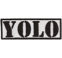 YOLO, You Only Live Once, Biker Rocker Heavy Metal Emo Punk Aufnäher Patch