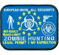 Zombie Hunting EU All Residents Evil Walking Dead Skull Uniform Patch Aufnäher