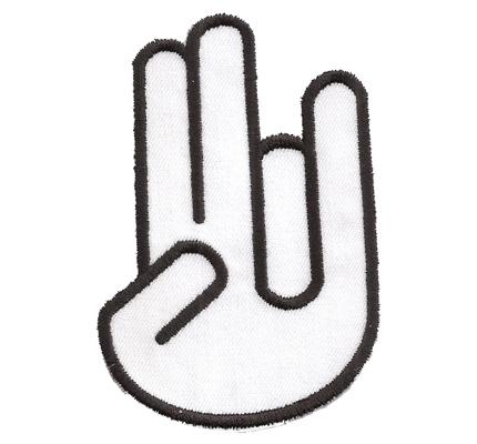 Schocker Hand Shocker Hand Two Squirt  One Dirt Auto Finger Sticker Aufnäher