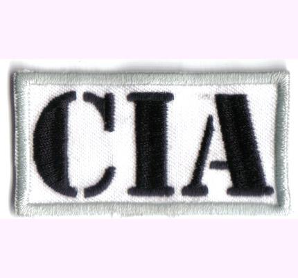 CIA, Anonymous, Hacker, CTU, Badge, FBI, KGB, Ausweis, Weisser Aufnäher