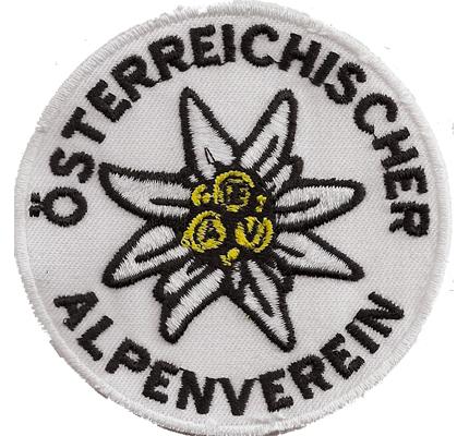 ÖAEV Alpenverein Österreich Wander Bergsteiger Bergwacht Aufnäher