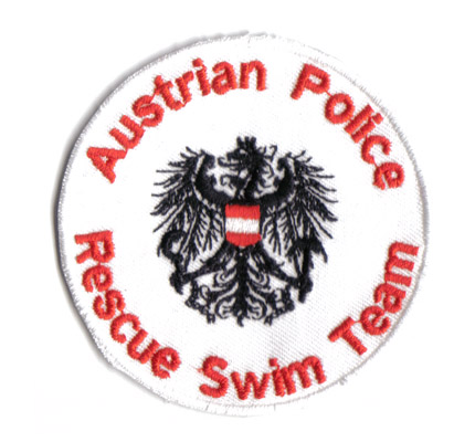Austrian Police Rescue Swim Team,SOKO, Cobra, Polizei, Aufnäher, Abzeichen